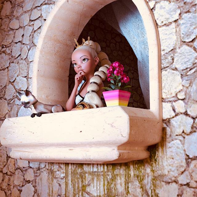 Princezna hledící z okna věže