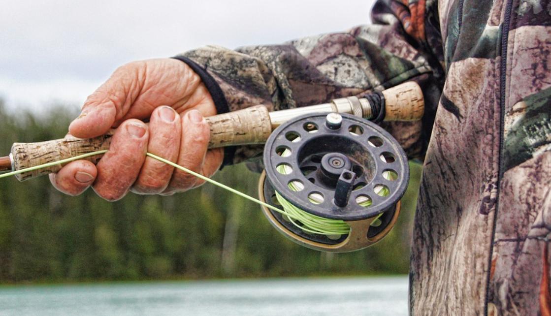 prut s rybářem