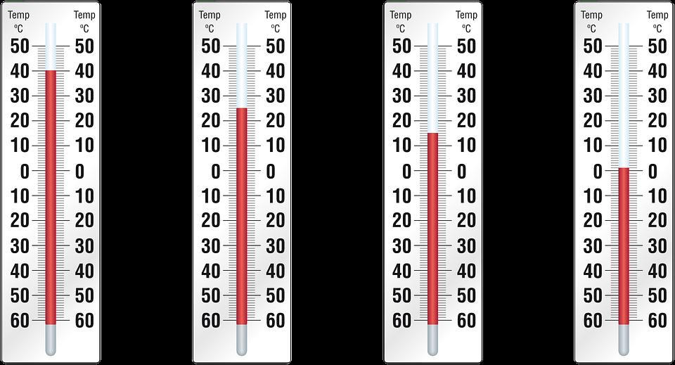 rozdílné teploty